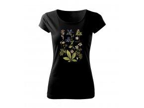 modrý zvonek dámské tričko