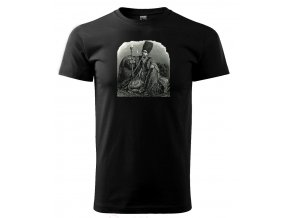 pánské černé tričko spotiskem vodní dýmka