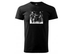 tričko s potiskem vojáci policie četník