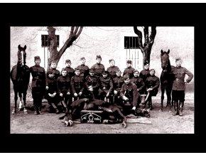 Československá armáda - Jezdectvo - tričko s potiskem (Pánské/Dámské Dámské černé, Velikost XXL)