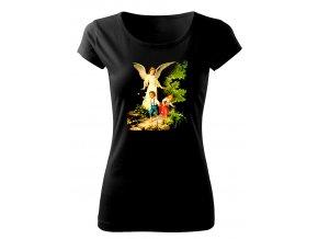 anděl strážný dámské tričko