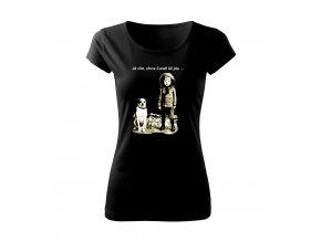 pejsek dámské tričko