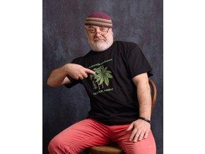 Marihuana - tričko s nápisem (Pánské/Dámské Dámské černé, Velikost XXL)