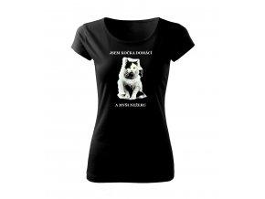 kočka domácí dámské tričko