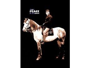 Give peace a chance - tričko s potiskem hippies (Pánské/Dámské Dámské černé, Velikost XXL)