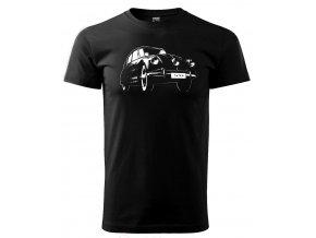Černé tričko s potiskem auto Tatra