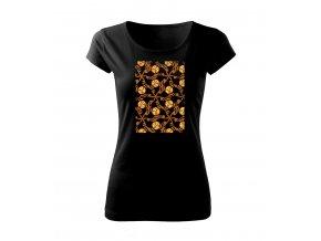 dekor hnědý dámské tričko