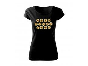 květy dámské tričko