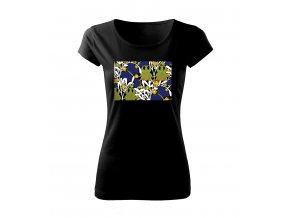 secesní květy dámské tričko
