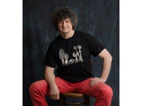 Kouzelné houby - tričko s potiskem (Pánské/Dámské Dámské černé, Velikost XXL)