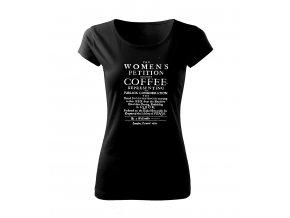 dámské tričko s obrázkem káva