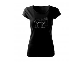 koně dámské tričko