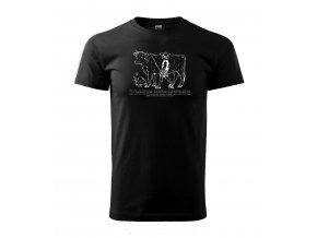 pánské tričko bio kráva