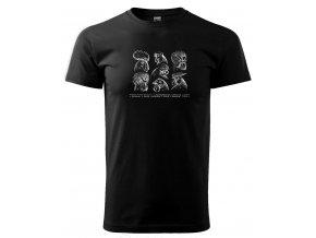 hřebeny pánské tričko černé