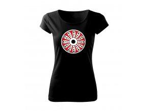 červená dámské tričko