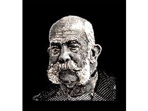 Franz Josef - tričko s potiskem (Pánské/Dámské Dámské černé, Velikost XXL)