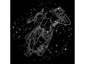 Andromeda - tričko s potiskem (Pánské/Dámské Dámské černé, Velikost XXL)