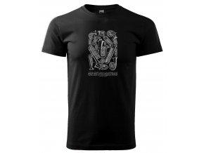 retro tričko pro muzikanta pánské