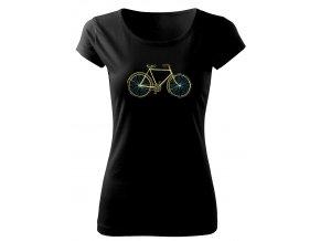 retro kolo tričko pro cyklistu dámské