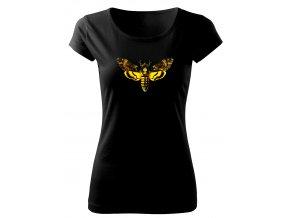smrtihlav motýl dámské retro tričko