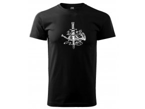 černé tričko myslivec