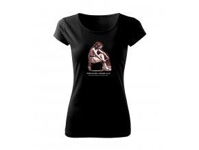 cvičení dámské tričko