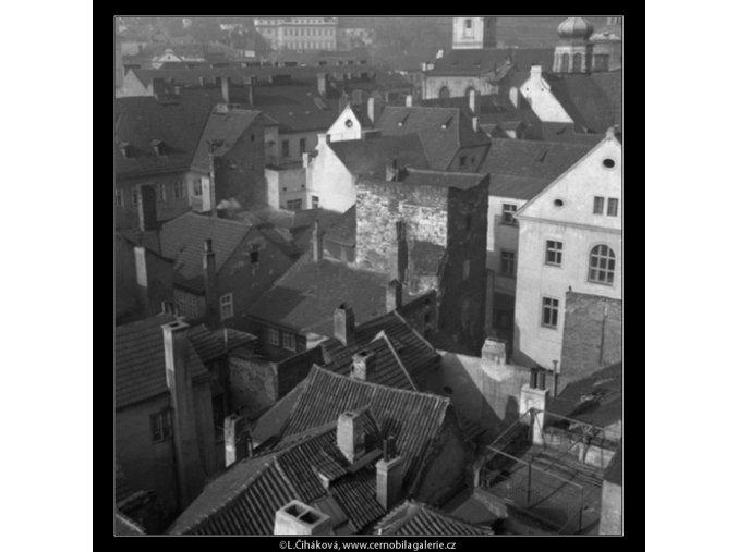 Malostranské střechy (41-24), Praha 1958 , černobílý obraz, stará fotografie, prodej