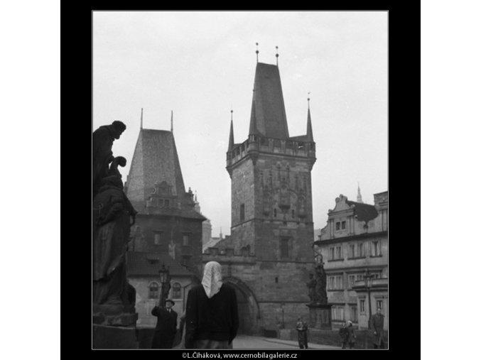Malostranská mostecká věž (41-29), Praha 1958 , černobílý obraz, stará fotografie, prodej