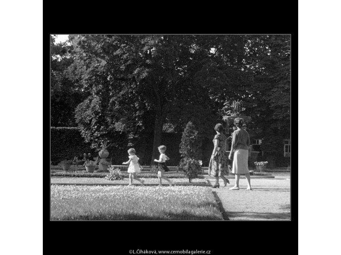 Belveder v zahradě (162-4), Praha 1958 červen, černobílý obraz, stará fotografie, prodej