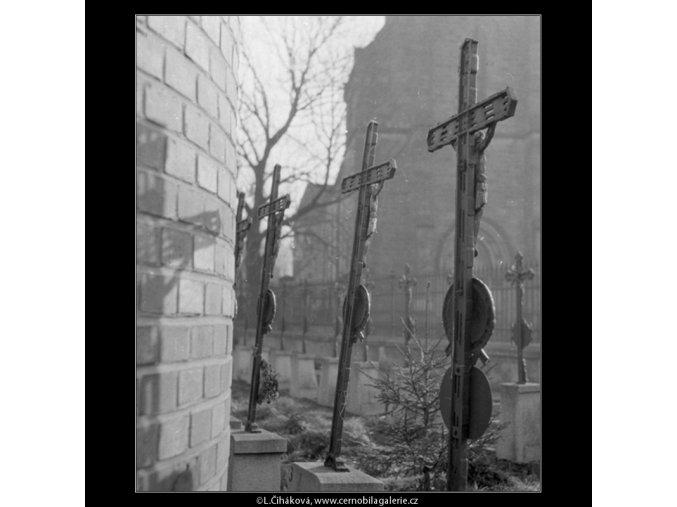 Hřbitov Vyšehrad (160-1), Praha 1959 , černobílý obraz, stará fotografie, prodej