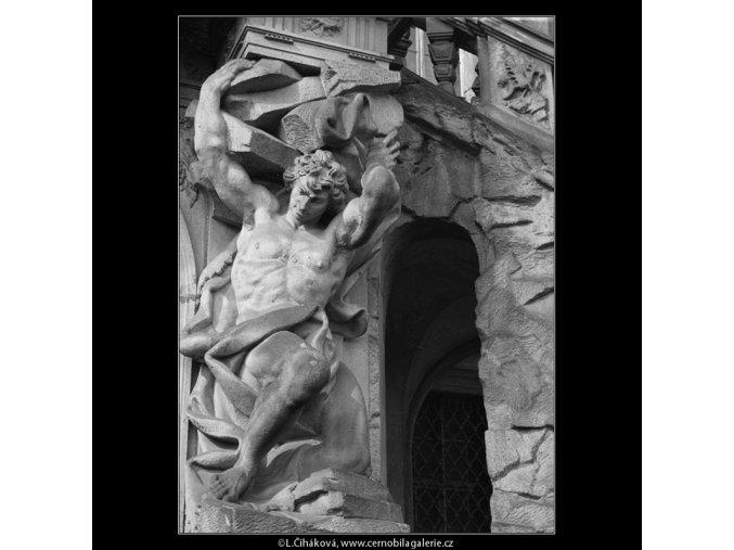 Plastiky zámku Troja (201-1), Praha 1959 , černobílý obraz, stará fotografie, prodej