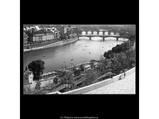 Pohled k Národnímu divadlu (259-4), Praha 1959 září, černobílý obraz, stará fotografie, prodej