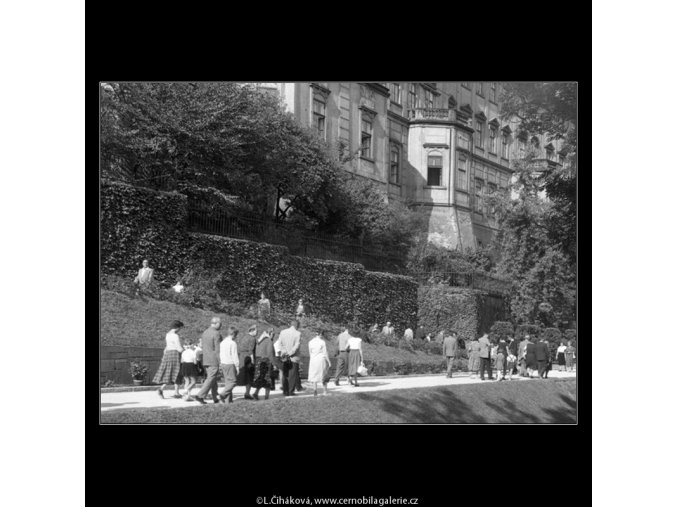 V jižních zahradách Hradu (266-7), Praha 1959 , černobílý obraz, stará fotografie, prodej