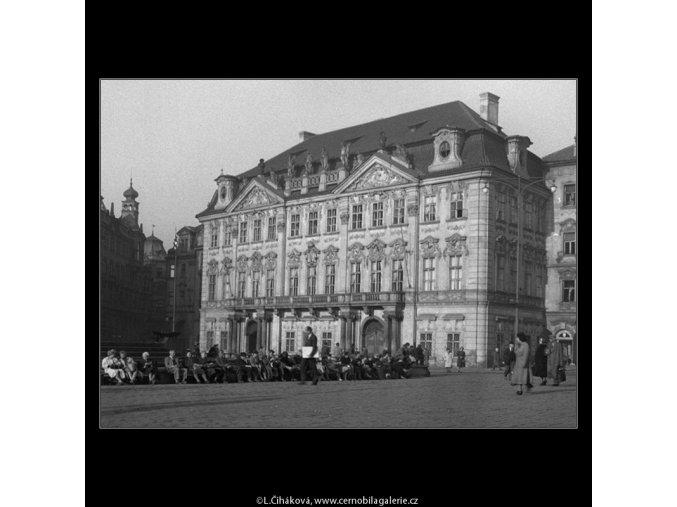 Palác Goltz-Kinských (301-2), Praha 1959 září, černobílý obraz, stará fotografie, prodej