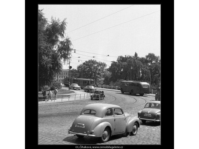 Na Klárově (357-2), Praha 1959 , černobílý obraz, stará fotografie, prodej