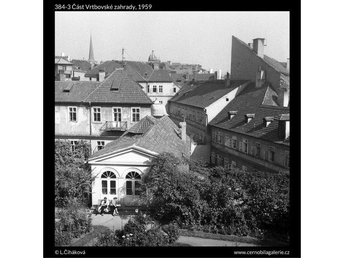 Část Vrtbovské zahrady (384-3), Praha 1959 , černobílý obraz, stará fotografie, prodej