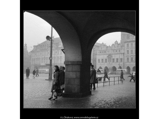 Staroměstské náměstí (475), Praha 1959 , černobílý obraz, stará fotografie, prodej