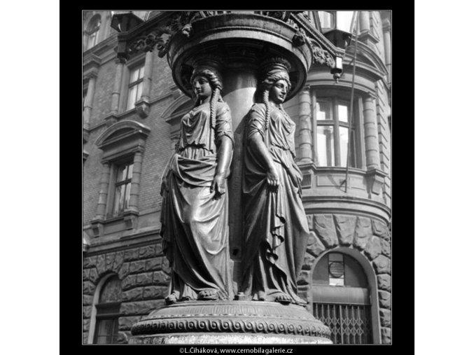 Plastická výzdoba osvětlení (721-1), Praha 1959 , černobílý obraz, stará fotografie, prodej
