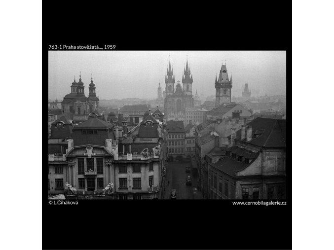 Praha stověžatá... (763-1), Praha 1959 , černobílý obraz, stará fotografie, prodej