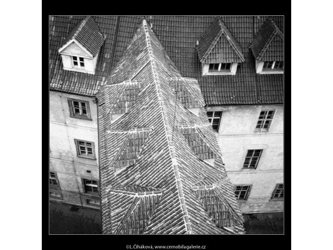 Střechy části Klementina (763-2), Praha 1959 , černobílý obraz, stará fotografie, prodej
