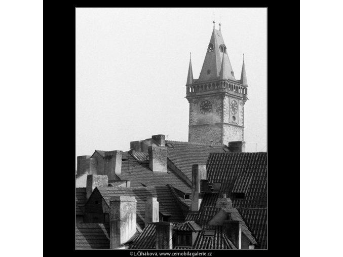 Věž Staroměstské radnice (790-1), Praha 1959 , černobílý obraz, stará fotografie, prodej