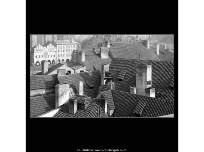 Střechy (790-3), Praha 1959 , černobílý obraz, stará fotografie, prodej