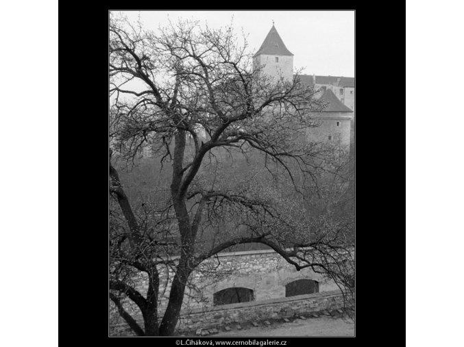 Černá věž a Daliborka (791), Praha 1959 , černobílý obraz, stará fotografie, prodej