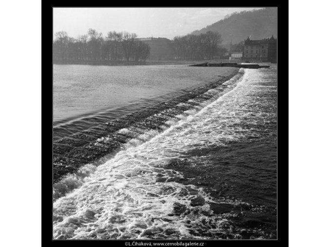Pohled na jez (794-1), Praha 1959 , černobílý obraz, stará fotografie, prodej