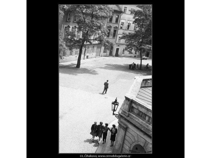 Kampa (637-2), Praha 1960 červen, černobílý obraz, stará fotografie, prodej