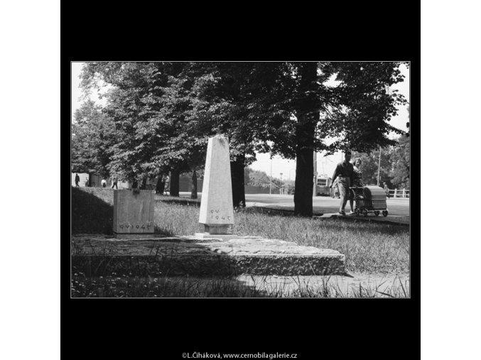 Pomníček sovětským hrdinům (661), Praha 1960 červen, černobílý obraz, stará fotografie, prodej