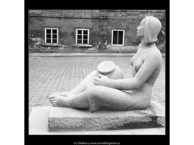 Hrnčířka (712-2), Praha 1960 červen, černobílý obraz, stará fotografie, prodej
