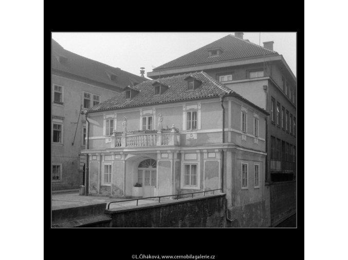 Domek na Kampě (758), Praha 1960 červen, černobílý obraz, stará fotografie, prodej