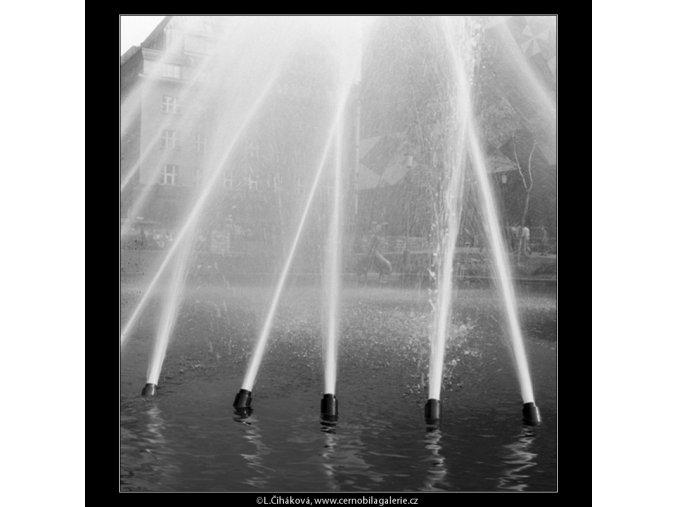 Ústí vodotrysku (774-3), Praha 1960 červenec, černobílý obraz, stará fotografie, prodej