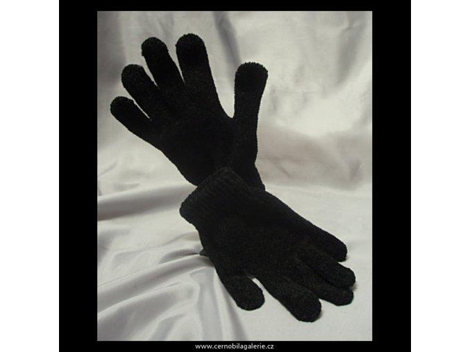 Rukavice černé žinylka